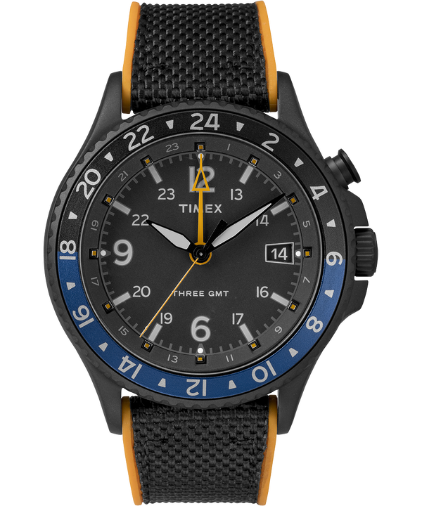 Allied Three GMT 43mm Silicone Strap Watch  large