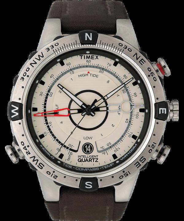 Intelligent Quartz® Flyback Chronograph 45mm Leather Strap Watch