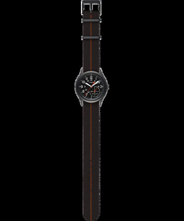 IQ+ MOVE 41mm Elastic Fabric Strap Watch Black large