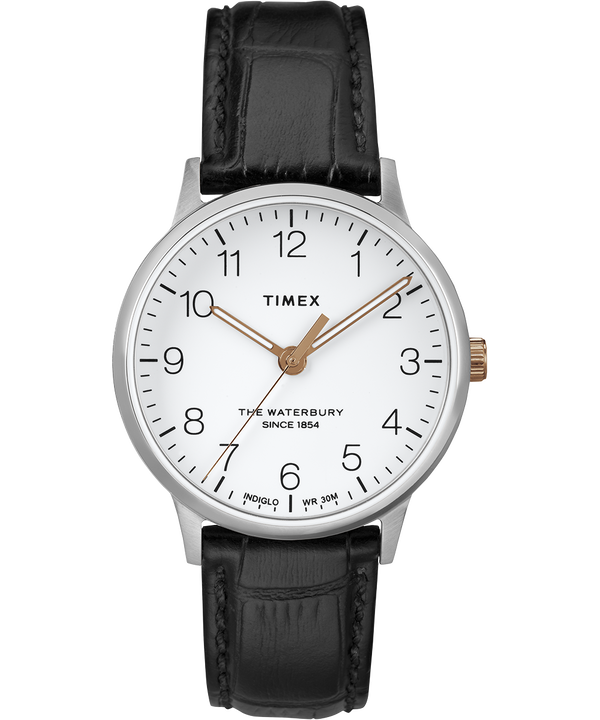Waterbury 36mm Classic Leather Strap Watch  large