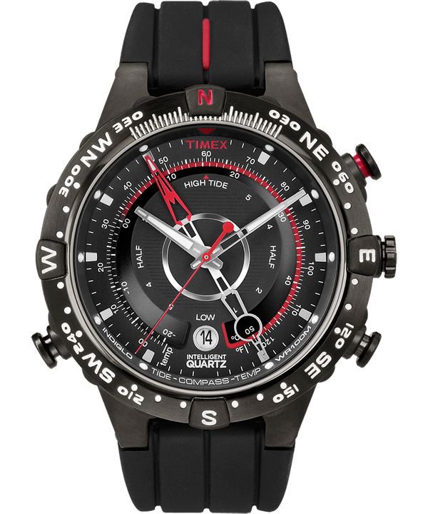 Intelligent Quartz® Flyback Chronograph 45mm Silicone Strap Watch Black large