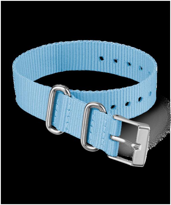 16mm Fabric Slip-Thru Single Layer Strap Blue large