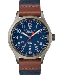 Scout 40mm Fabric Strap Watch Gray/Blue large