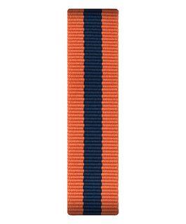 Orange/Blue Nylon Slip-thru Strap  large