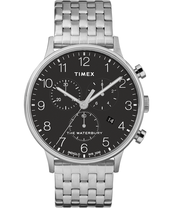 Waterbury 40mm Classic Chrono Stainless Steel Watch  large