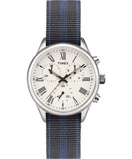 Weston Avenue 38mm Reversible Grosgrain Strap Watch Stainless-Steel/Cream large