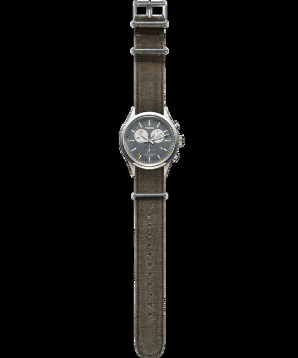 Waterbury Chronograph 42mm Stonewashed Canvas Strap Watch  large