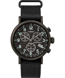 Standard Chronograph 40mm Fabric Strap Watch Black large