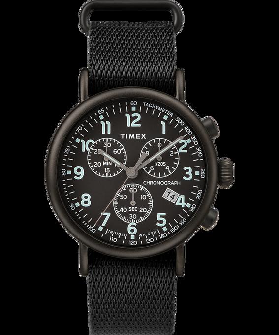 Standard Chronograph 41mm Fabric Strap Watch Black large