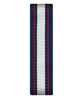 Blue/White/Red Nylon Slip-thru Strap  large