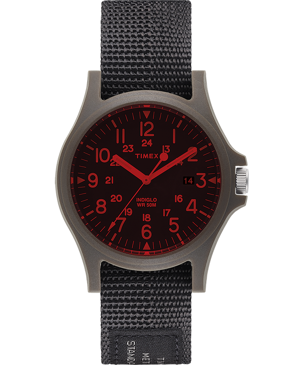Acadia 40mm Fabric Strap Watch with Colored Lens  large