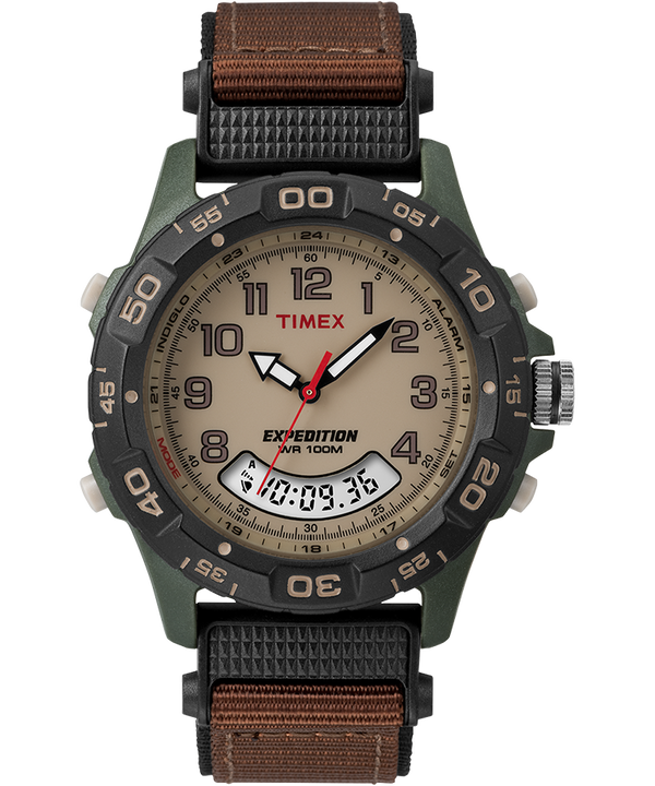 Expedition 39mm Nylon Strap Watch Green/Brown/Tan/Black (large)