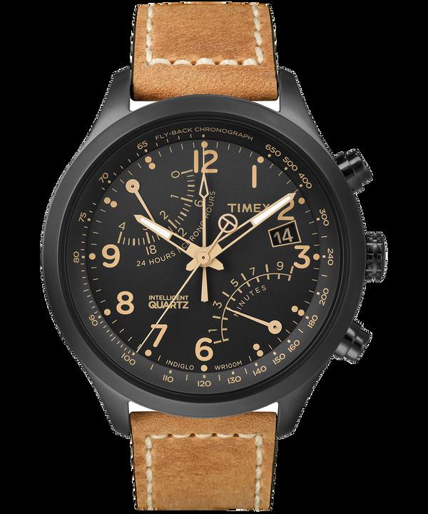 Intelligent Quartz Fly-Back Chronograph 43mm Leather Watch  large