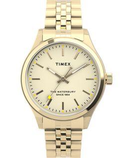 Waterbury Neon 34mm Stainless Steel Bracelet Watch Gold-Tone/Cream large