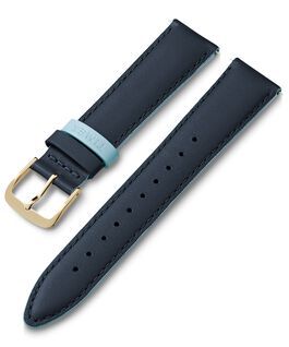 20mm Leather Strap with Colored Keeper Blue large