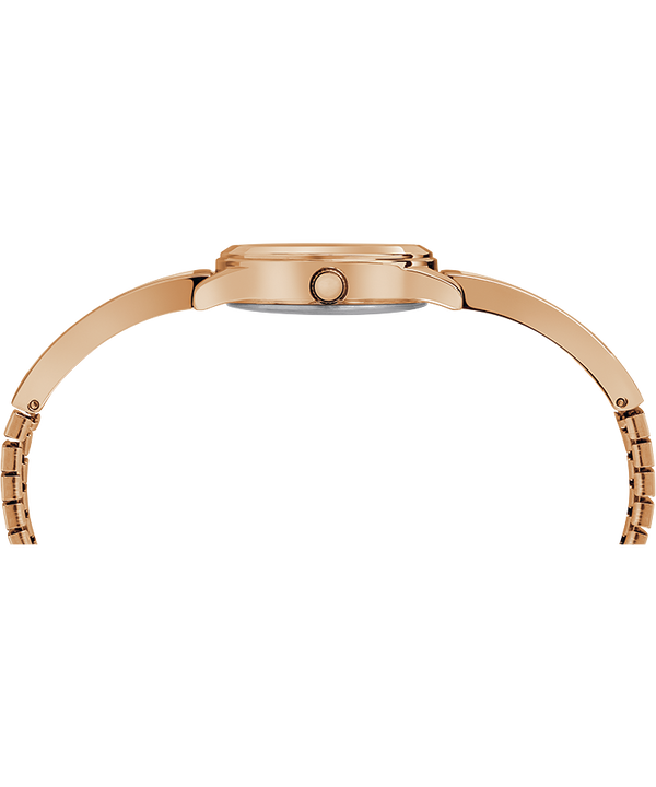 Fashion Stretch Bangle 25mm Expansion Band Watch Rose-Gold-Tone/Silver-Tone large