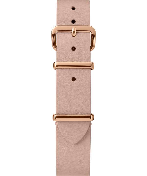 16mm Leather Slip-Thru Single Layer Strap Tan large