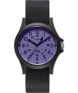 Acadia 40mm Fabric Strap Watch Black/Purple large