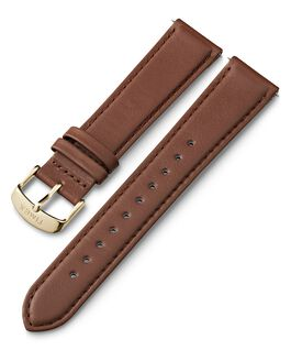 20mm Leather Strap with Quick Release Brown large
