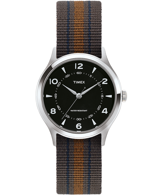Whitney Village 36mm Reversible Grosgrain Strap Watch Stainless-Steel/Black large
