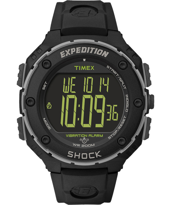 Expedition Shock XL 50mm Resin Strap Watch Black/Gray large