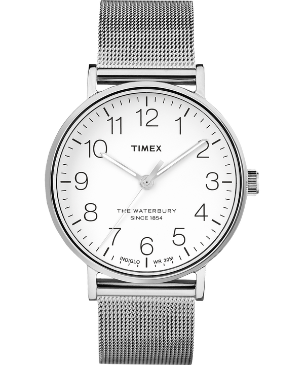 Waterbury Classic 40mm Stainless Steel Watch Stainless-Steel/White large