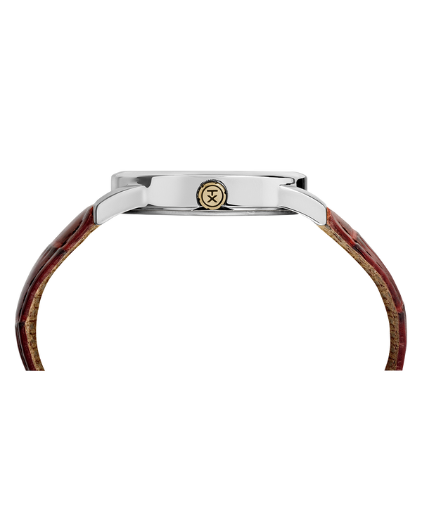 Easy Reader Signature 38mm Leather Strap Watch Gold-Tone/Brown/White large