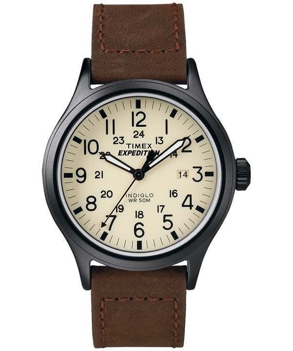 Expedition Scout 40mm Fabric Strap Watch Black/Brown/Natural large